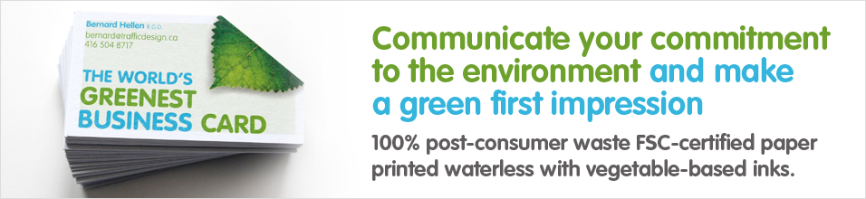 The worlds greenest business card the worlds greenest business first reheart Images